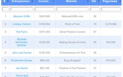 Top Bloggers' Income Reports